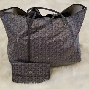 Authentic Goyard St. Louise Tote Grey